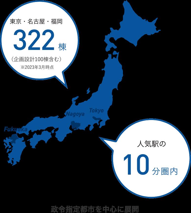 名古屋・福岡 280棟以上 人気の10分圏内